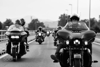 Driving with bikers
